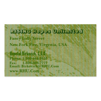 Hues of Green Nature Wonders Graphics Business Card Templates