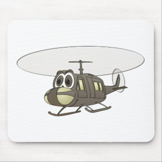 Huey Helicopter Cartoon Mouse Mat