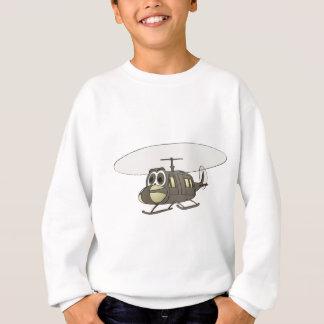 Huey Helicopter Cartoon Sweatshirt