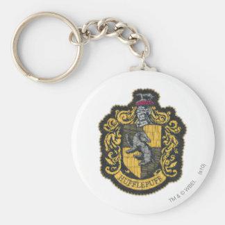 Hufflepuff Crest Basic Round Button Key Ring
