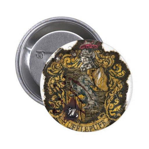 Hufflepuff Crest - Destroyed Pinback Button