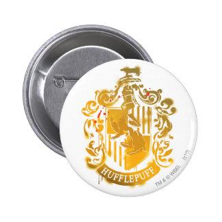 Hufflepuff Crest - Splattered Buttons