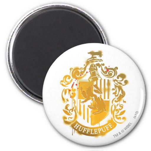 Hufflepuff Crest - Splattered Fridge Magnets