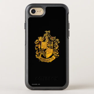Hufflepuff Crest - Splattered OtterBox Symmetry iPhone 8/7 Case