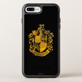 Hufflepuff Crest - Splattered OtterBox Symmetry iPhone 8 Plus/7 Plus Case