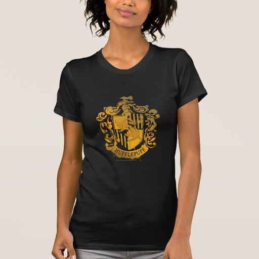 Hufflepuff Crest - Splattered T Shirt
