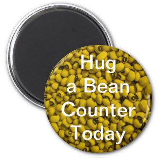 Hug a Bean Counter Magnet