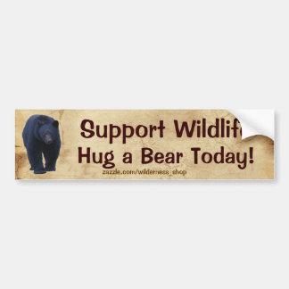 HUG A BEAR Wildlife Support Funny Bumper Sticker
