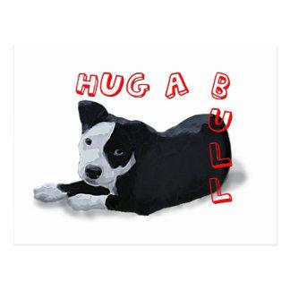 Hug-A-Bull Postcard