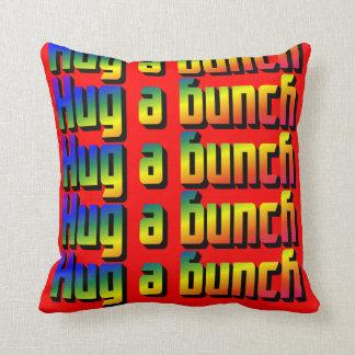 Hug a Bunch Throw Pillow