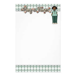 Hug A Friendly Smiling Nurse Stationery Design
