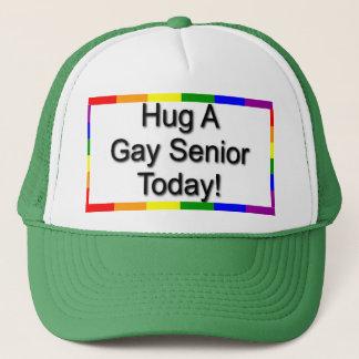 """""""Hug A Gay Senior"""" Trucker Hat"""
