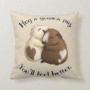 Hug A Guinea Pig Pillow