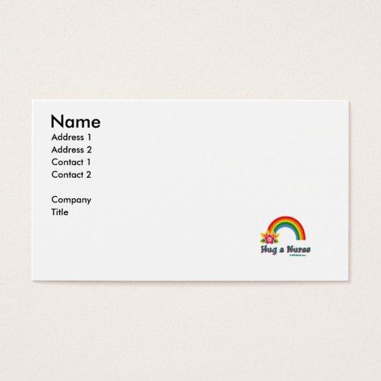 Hug a Nurse Business Card
