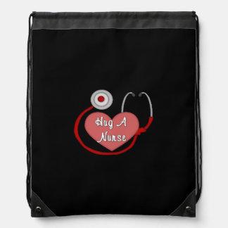 Hug A Nurse Drawstring Backpack
