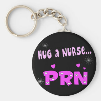 Hug a Nurse PRN Key Ring