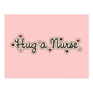 Hug a Nurse T-shirts and Gifts Postcard