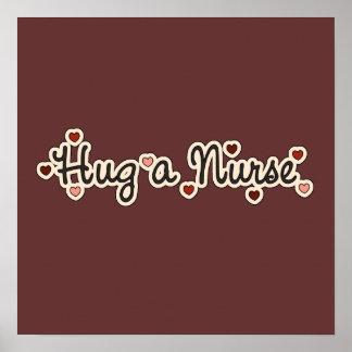 Hug a Nurse T-shirts and Gifts Print