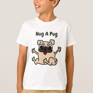 Hug A Pug  Dog T-shirt