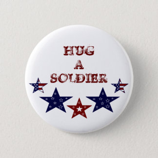 HUG A SOLDIER Button