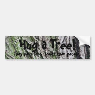 Hug a tree bumper sticker