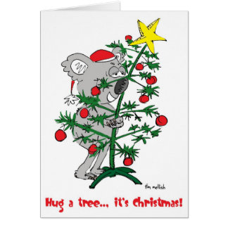 hug a tree card
