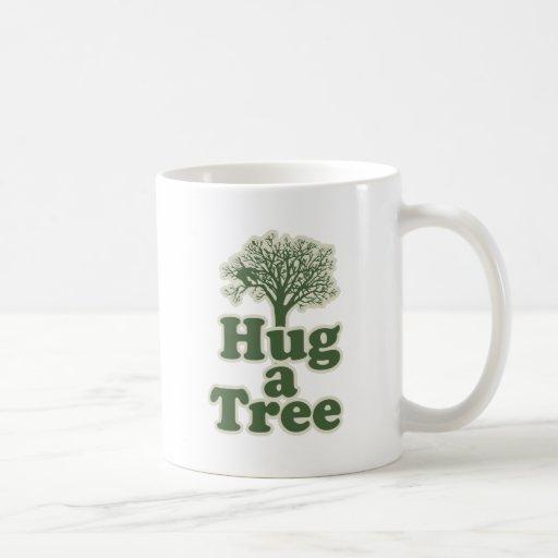 Hug a Tree for Earth Day Coffee Mugs