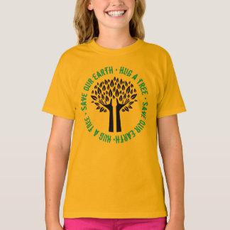 Hug a Tree Save Our Earth T-Shirt