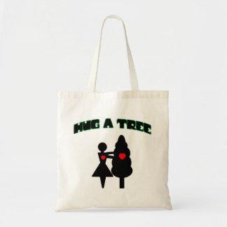 Hug a Tree w/Hearts Budget Tote Bag