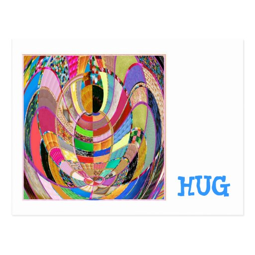 HUG   -  an artistic presentation Post Card
