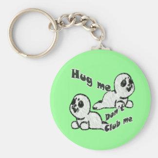 Hug, Don't Club Key Chain