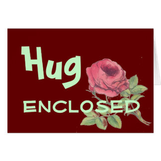Hug enclosed text language cards