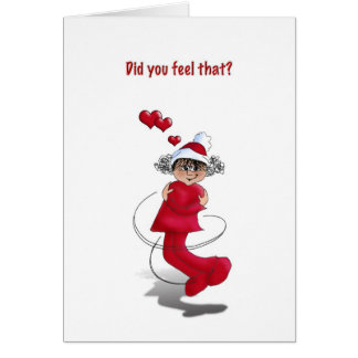 hug girl christmas card