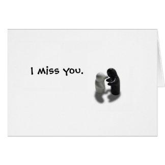 hug I miss you Greeting Card