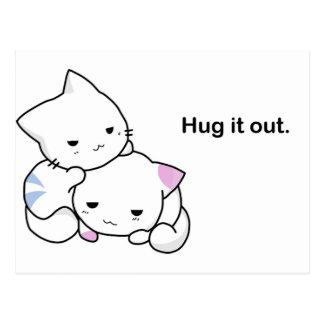 Hug it Out Kittens Postcard