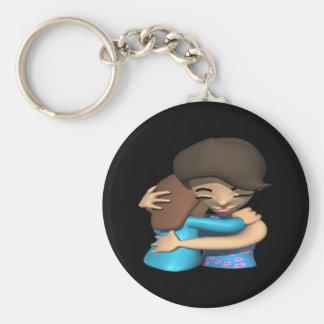 Hug Basic Round Button Key Ring