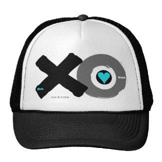 Hug & Kiss (black & blue) Valentine's Hat