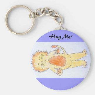 Hug Me Basic Round Button Key Ring