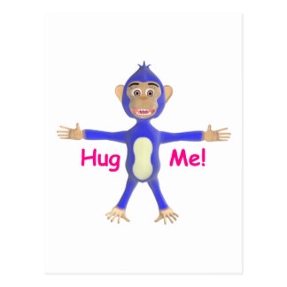 Hug Me Chimp Postcard