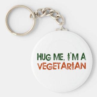 Hug Me I M A Vegetarian Key Chain