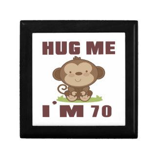 Hug me i'm 70 small square gift box