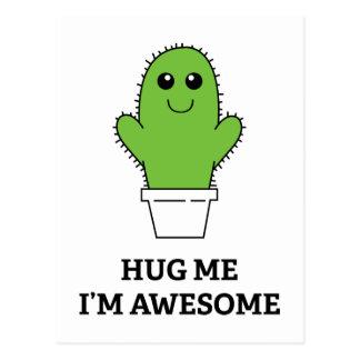 Hug Me I'm Awesome Postcard