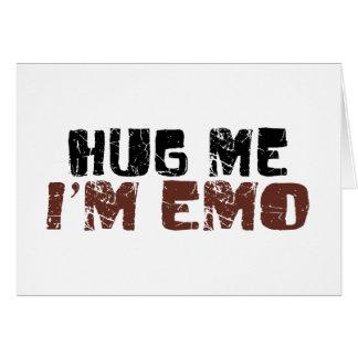 Hug Me I'M Emo Card