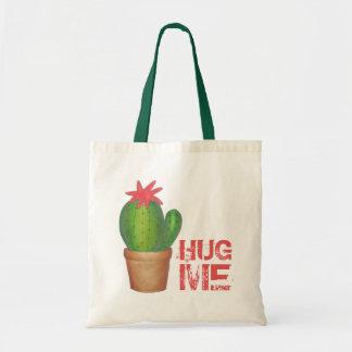 HUG ME Prickly Green Cactus Flower Plant Tote Bag