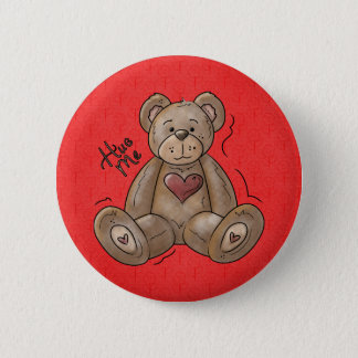 Hug Me Teddy Bear Button