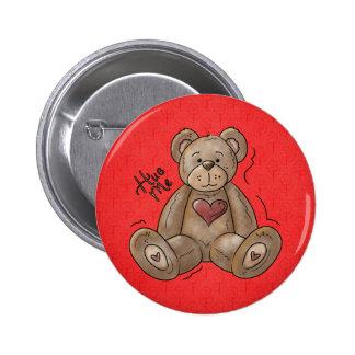 Hug Me Teddy Bear Button