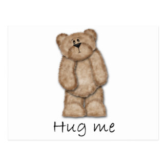 Hug Me Teddy Bear Postcard