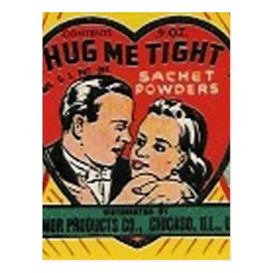 hug me tight sachet powder post card