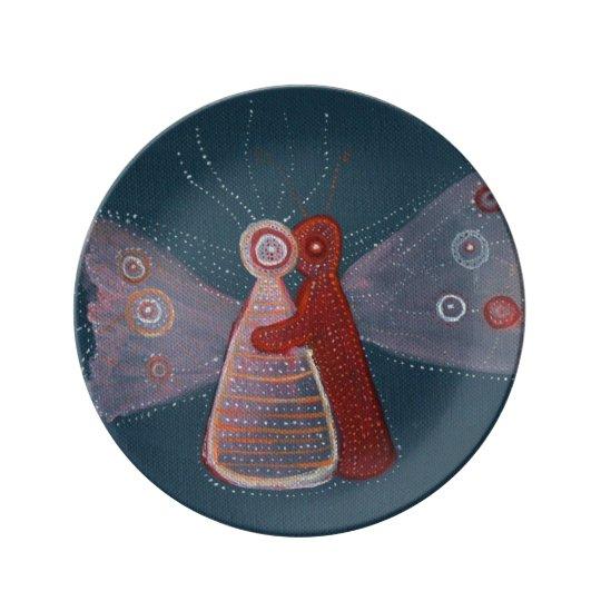 Hug Painting Art Decorative Porcelain Plate