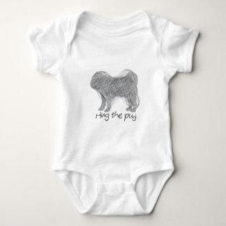 Hug the pug! baby bodysuit